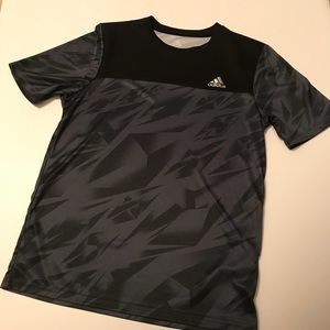 Boys Adidas Gray/Black Top Sz XL